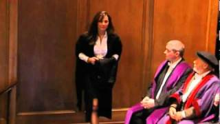 Kate Middleton receiving her degree from the University of St Andrews