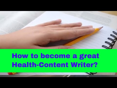 How to become a Health Writer