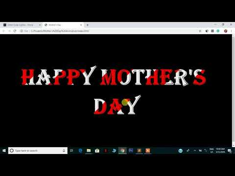Happy Mother's Day Animation -  HTML & CSS