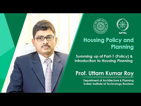 Summing up of Part-1 (Policy) & Introduction to Housing Planning