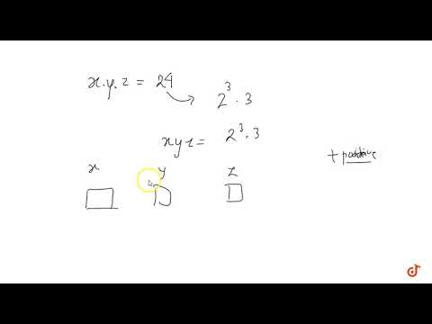 Find the total number of positive integral solutions for `(x ,y ,z)` such that `x y z=24.` Also find