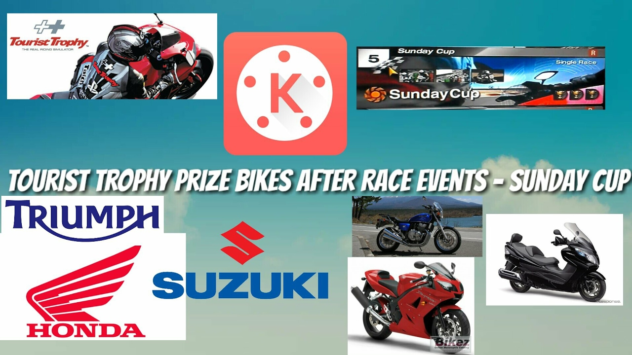 Tourist Trophy Prize Bikes After Race Events   Sunday Cup
