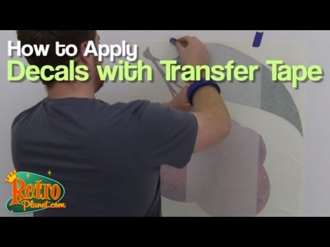 Applying Wall Decals that have Transfer Tape