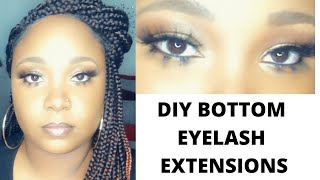 How to apply bottom eyelash extensions | Kiss 3D Trio Lash | Detailed | Very easy | Glow With D