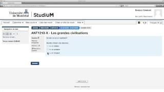 StudiUM UdeM - Faire un test