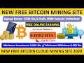 New Bitcoin Mining Website 2020  1500 gh/s Live Payment ...