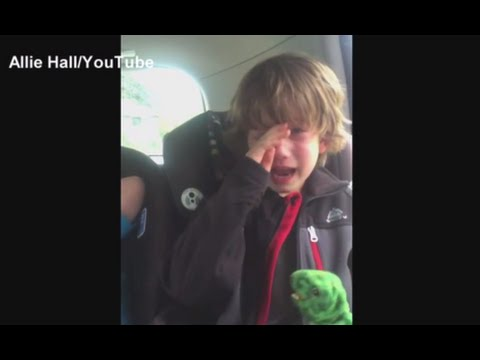 Boy Crying Over Environment & People Who Throw Trash on the Ground