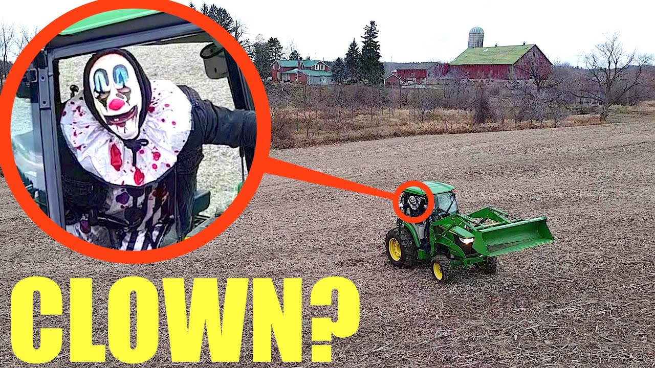 when you see this clown farmer in a tractor, don't step on his land! RUN Away FAST if he chases you!