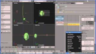Blender 2.5 Walk Cycle for the Google Android Using the NLA Editor, Following a Path (Motion, Guide)