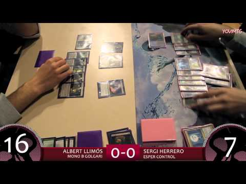 Magic: The Gathering. Semifinal PTQ Atlanta @ Barcelona. Albert Llimós vs Sergi Herrero