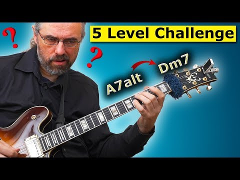 How To Solo Over Chord Changes - The 5 Level Challenge