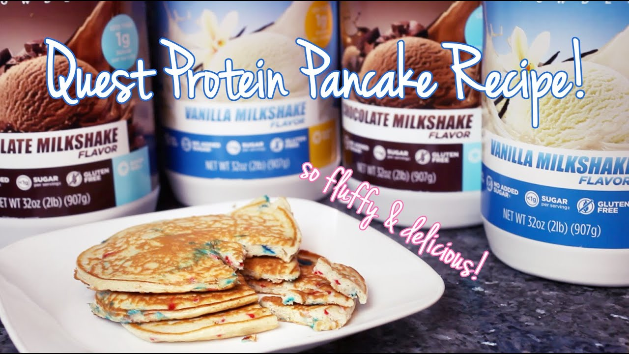 Fluffiest Quest Protein Pancake Recipe Youtube