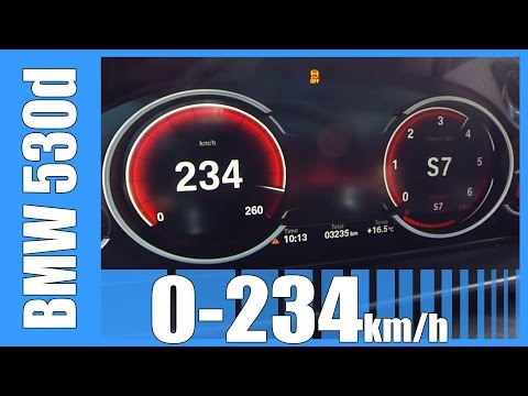 BMW 530d Touring F11 M-Sport 0-234 Km/h GREAT! Acceleration & Sound