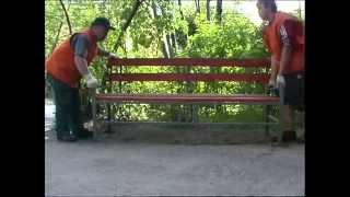 Установка скамеек и урн. 08.2006(, 2015-02-25T09:49:01.000Z)