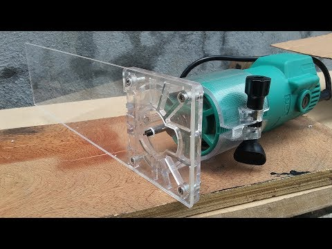 Quick DIY Palm Router Circle Jig for Cutting Small Holes