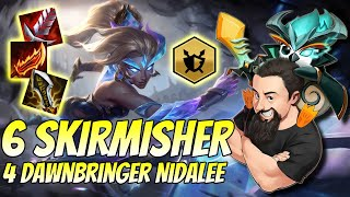 6 Skirmisher 4 Dawnbringer Nidalee | TFT Reckoning | Teamfight Tactics