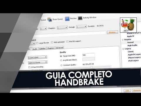 COMO DIMINUIR O PESO DOS VÍDEOS - GUIA COMPLETO do HANDBRAKE