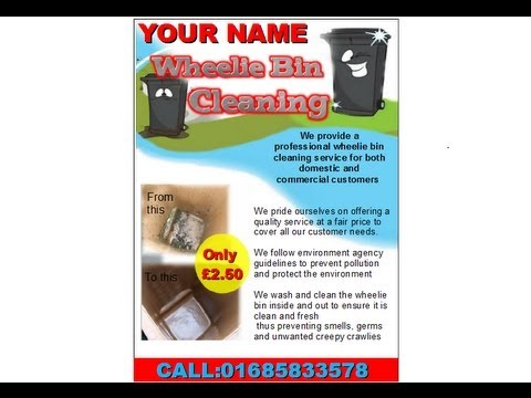 Wheelie Bin Cleaning Flyer Youtube