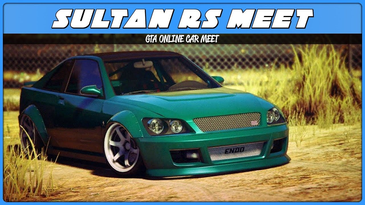 gta 5 sultan rs car meet flyer