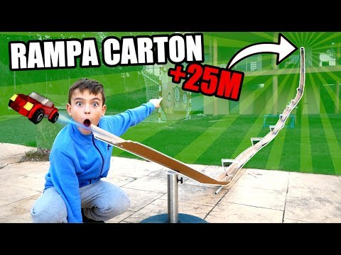 ¡MEGA RAMPA DE CARTON PARA COCHES DE +25M!