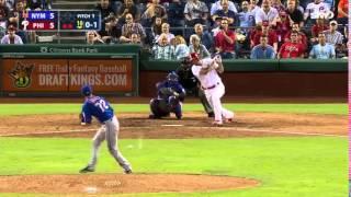 Mets Win - Daniel Murphy and Carlos Torres 1-3-1 Groundout