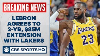 LeBron agrees to two-year, $85 million max contract extension  CBS Sports HQ