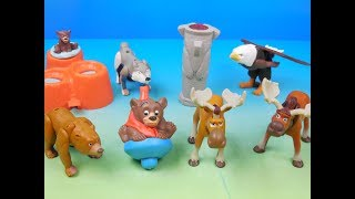 2003 WALT DISNEYS BROTHER BEAR SET OF 8 McDONALDS HAPPY MEAL KIDS MOVIE TOYS VIDEO REVIEW