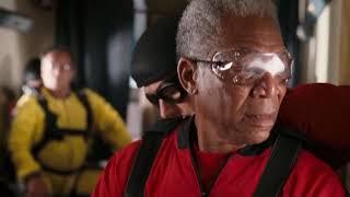 Прыжок с парашютом в 65 лет ... отрывок из фильма (Пока не сыграл в ящик/The Bucket List)2007