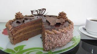 #Пражский #Торт cách làm bánh kem sinh nhật  Socola Gato Praha Sacher torte Áo clip hướng dẫn dạy