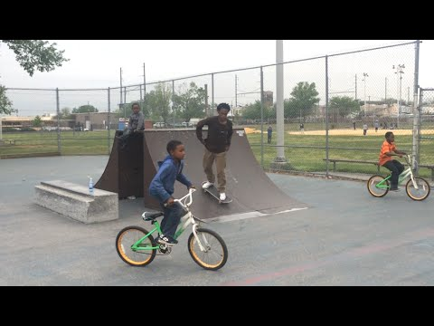 SKATEBOARDING: A HELMET WOULDN'T HAVE HELPED!