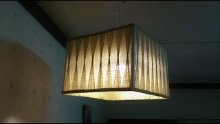 D.I.Y. Lamp from yarn & popsicle stick (Square)