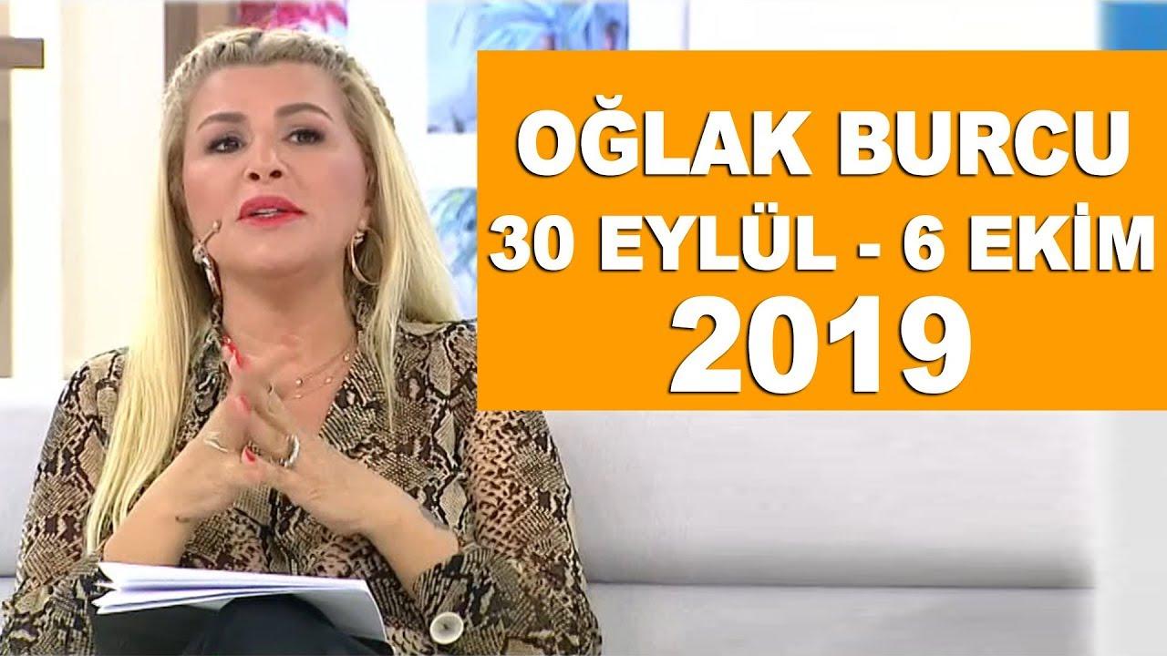 OĞLAK BURCU   30 Eylül - 6 Ekim 2019   Nuray Sayarı'dan haftalık burç  yorumları - YouTube