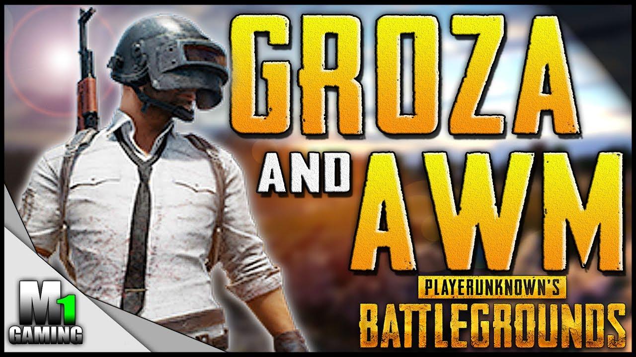 Playerunknowns Battlegrounds Groza Awm Fully Geared Duo Win