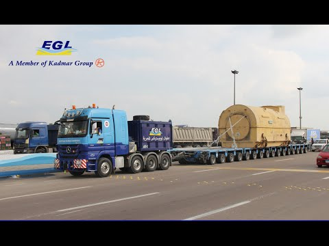 EGL heavy transport for Siemens stators in Egypt