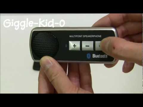 Giggle-Kid-O Bluetooth Carkit Demonstration (Pairing) - LG Optimus True HD LTE