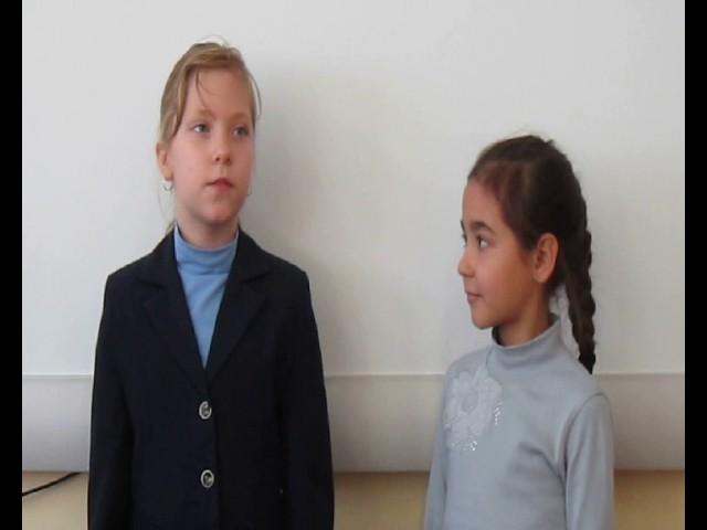 Изображение предпросмотра прочтения – «Алёна Ядгарова и Дарья Рассыльнова» читают произведение «Ворона и Лисица» И.А.Крылова