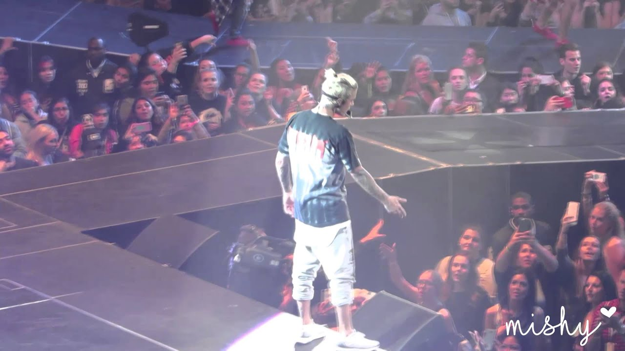 18 March 2016 Justin Bieber - Baby - Purpose World Tour in ...