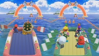 Super Mario Party - 2 vs 8 - Team Mario & Bowser vs Rival Very Hard Difficulty| Cartoons Mee