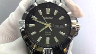 Men's Black Stainless Steel Seiko Solar Power Watch SNE177(, 2013-01-14T22:38:11.000Z)
