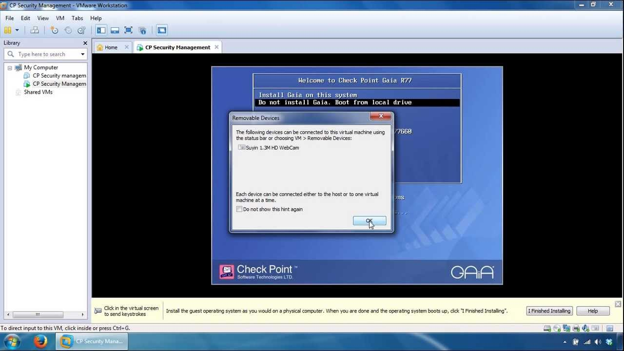 Check Point Security Management Server Installation