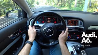 2006 Audi A6 C6 3.0 TDI Quattro (240 HP) | 4K POV Test Drive #101 Joe Black