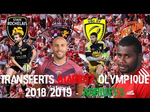 Transferts Biarritz Olympique 2018/2019 - Arrivées