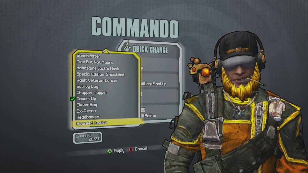 Borderlands 2 - Commando Haggard Hunter Pack (Bearded ... Borderlands 2 Max Backpack