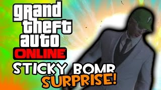 Sticky Bomb SURPRISE! (Grand Theft Auto Online PC Funny Moments)