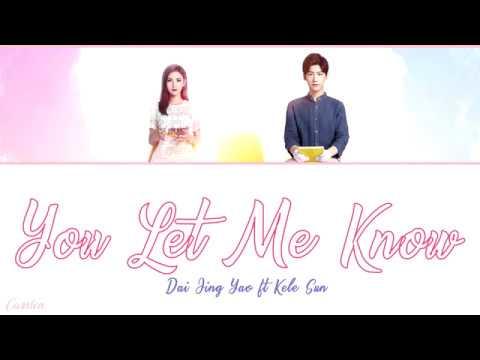 ● You Let Me Know ● Dai Jing Yao ft. Kele Sun (Chi/Pinyin/Eng)