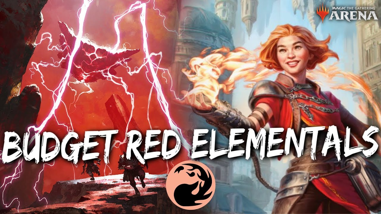 Budget RED Elementals [MTG Arena] | 0 Rares Mono-Red Aggro Deck in M20  Standard