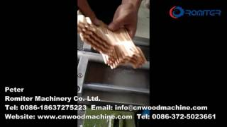 Automatic Disposable Wooden Forks Teeth Making Machine-Romiter Machinery