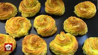 Праздничное Картофельное Пюре Запеченное с Сыром Моцарелла