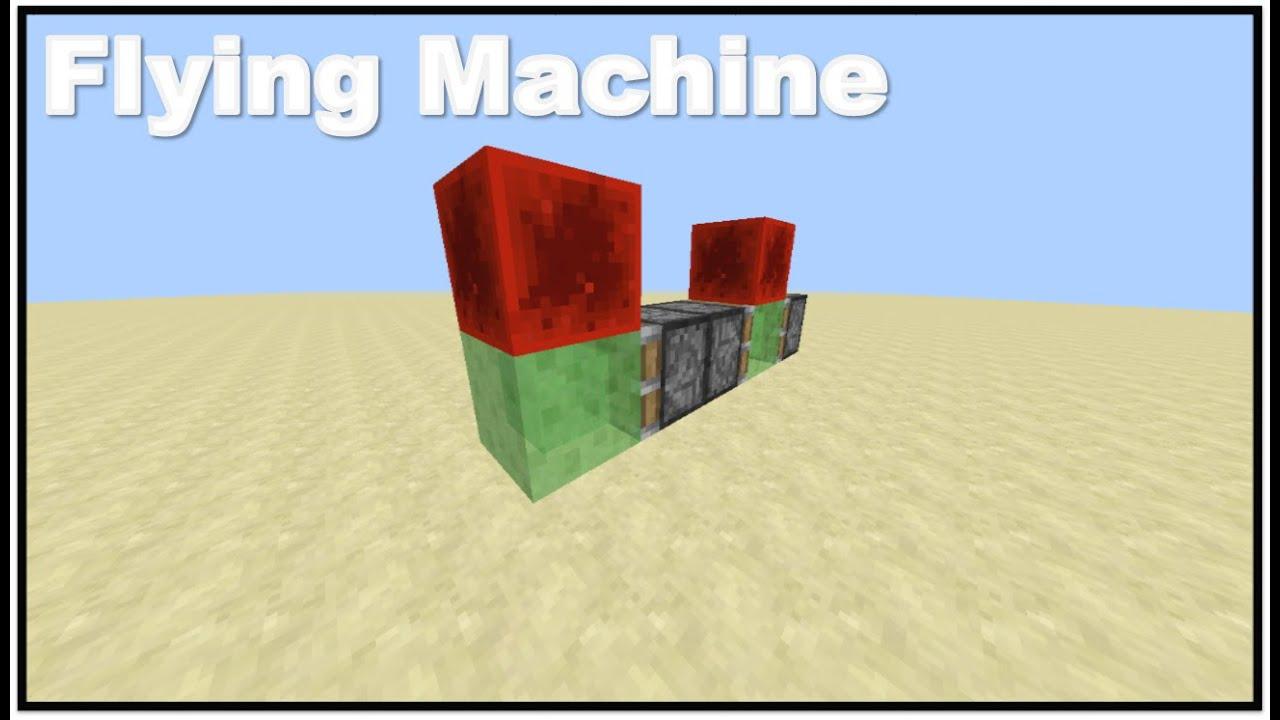 Minecraft Slimeblock Flying Machine Moving Vehicles In Minecraft Youtube
