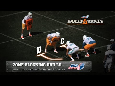 2019 Online Clinics: USA Football Miami Dolphins Zone Blocking Drills